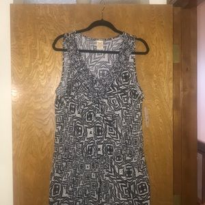 Faded Glory black and white summer dress